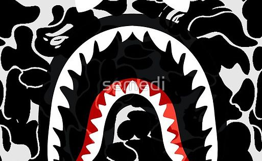 Shark black bape camo wallpaper pinterest bape shark and camo - Camo shark wallpaper ...
