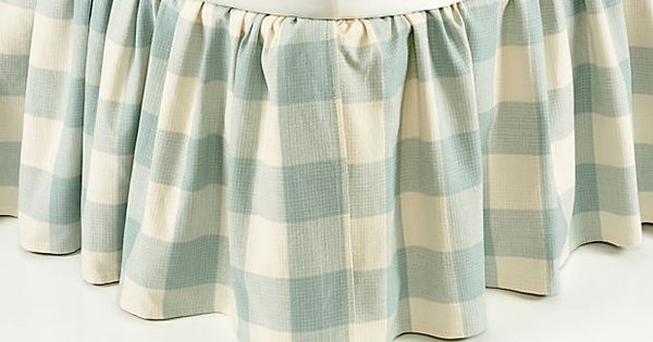 Buffalo Check Bed Skirt Spa On Onekingslane Com In Tan