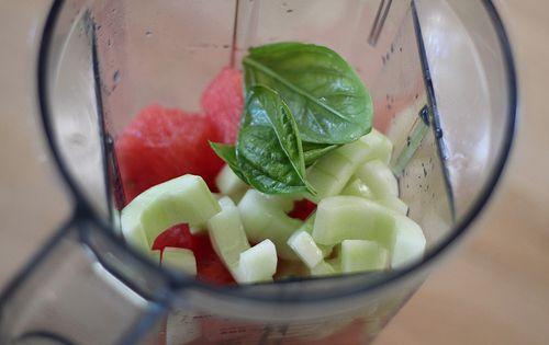 how to make watermelon basil juice