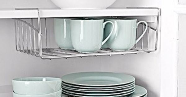 Maximize Cabinet Space With Wire Shelves That Sit Or Hang Kitchen Pinter