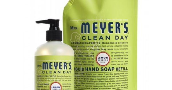 Mrs Meyer S Clean Day Lemon Verbena Hand Soap And Refill
