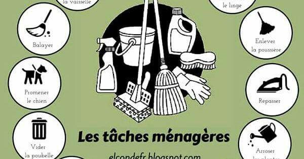 Tâches ménagères | FLE | Pinterest