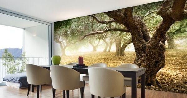 dining room photo wallpaper / wall mural #diningroom ...