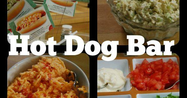 Hot dog bar, Hot dogs and Hot dog recipes on Pinterest