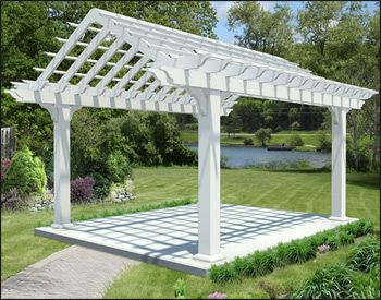 Our 12 X 16 Vinyl Gable Vault Pergola Is Featured At Standard Runner Size 2 X Curved Pergola Outdoor Pergola Pergola Attached To House