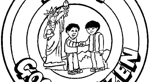 citizenship coloring pages - photo#32