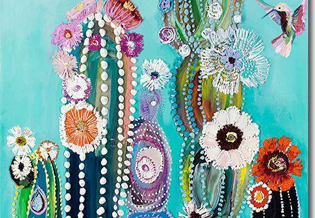 Eureka Hummingbirds Amp Cacti Painting By Starla Michelle