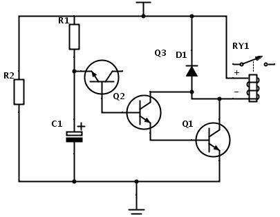 circuito de atraso de tempo para rel u00e9