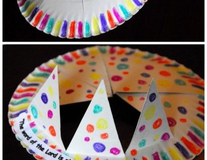 Great for birthday crown made my counselors Paper plate crown craft - would be cute to make these at a birthday party