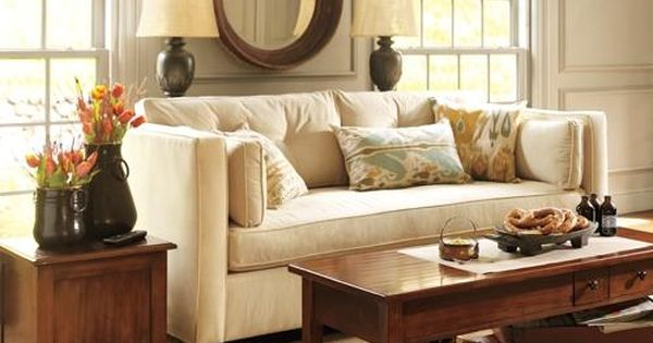 Pin By Carmel Lamolli On Home Living Spaces Console Table Behind Sofa Pottery Barn Living Room Home Living Room