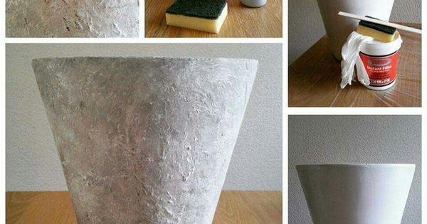 Oude potten bewerken muurvuller en tegellijm pinterest potten doe het zelf en creatief - Oude huisdecoratie ...