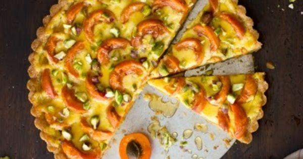 Recipe: Apricot Crème Fraîche Tart with Honey and Pistachios ...