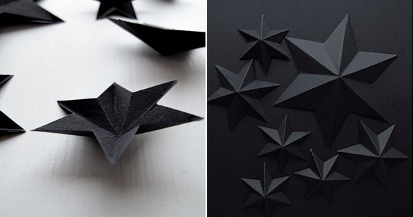 Pretty paper stars DIY christmas
