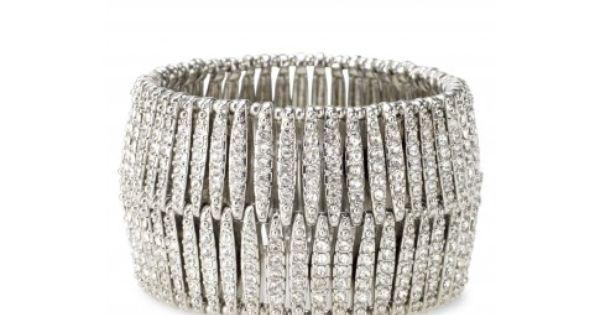 Ainsley Bracelet - rhinestone cuff bracelet