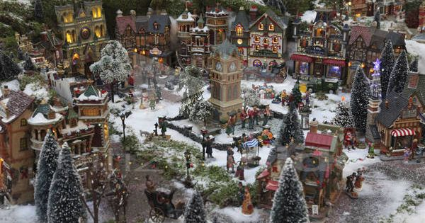 Miniature village sidewalk how to le plus grand village de no l miniature du monde rosny - Village de noel miniature ...