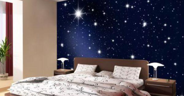 Maak van uw woonkamer slaapkamer gang kantoor of etalage een sterrenhemel dit foto - Foto van volwassen slaapkamer ...