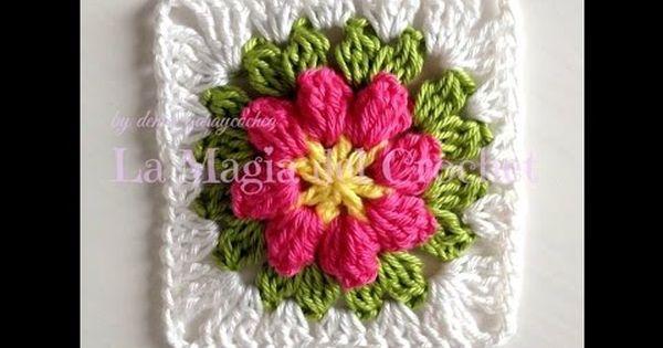 Granny Square Flor A Crochet Quadrados Crochet Avo Padroes De Quadrados De Croche Padrao Quadrado De Croche