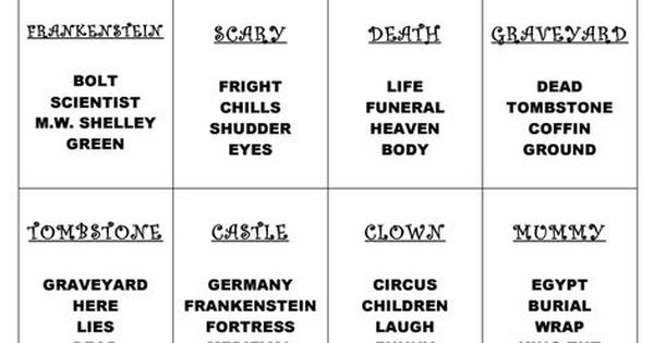 Halloween Taboo Pdf Probability Taboo Game Teaching