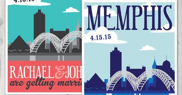 Wedding Invitations Memphis Tn: Memphis Skyline Wedding Save The Dates Http://www