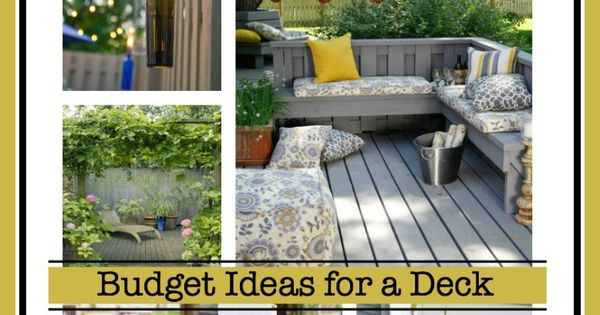 Back deck ideas on a budget at deck decorating and decking for Deck makeover on a budget