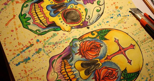 Sugar Skulls. They may seem a little morbid, but I love them.