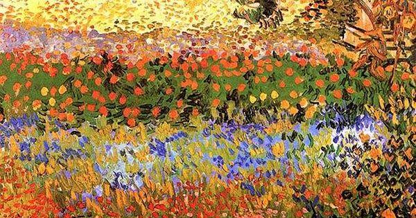 Vincent Van Gogh, Flowering Garden | Beautiful Flower Prints & Posters at