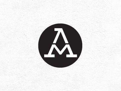 Am Monogram Graphic Design Logo Text Logo Design Logotype Design