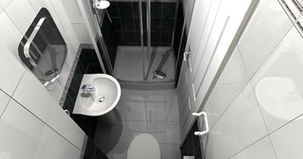 Ensuite Bathroom Minimum Size 3ft x 9ft small bathroom floor plan (long and thin) with shower