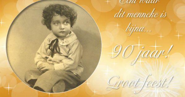 Ongebruikt Jubileum uitnodiging 90 jaar   Uitnodiging, Verjaardag moeder SG-78