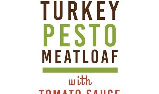 Turkey Pesto Meatloaf with Tomato Sauce