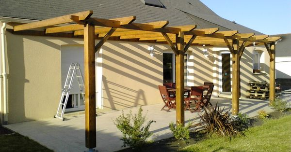 Construction d 39 une pergola en bois instructions de for Bois construction exterieur