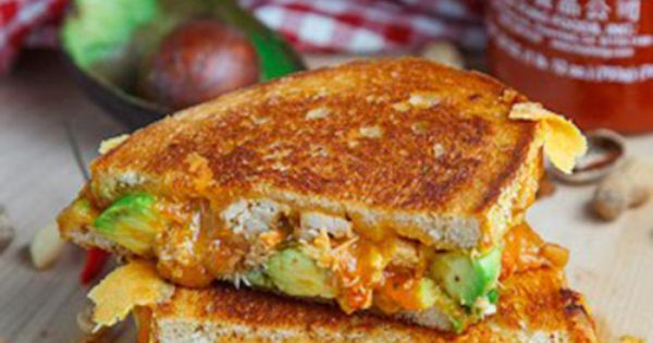 Spicy Peanut Chicken Grilled Cheese Sandwich [RECIPE] | Food and Drink ...