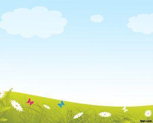 Grass Background Powerpoint Template Sfondi Scuola Infanzia