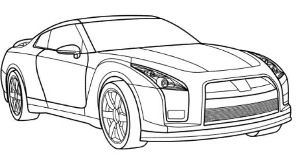 gtr coloring pages - photo#3