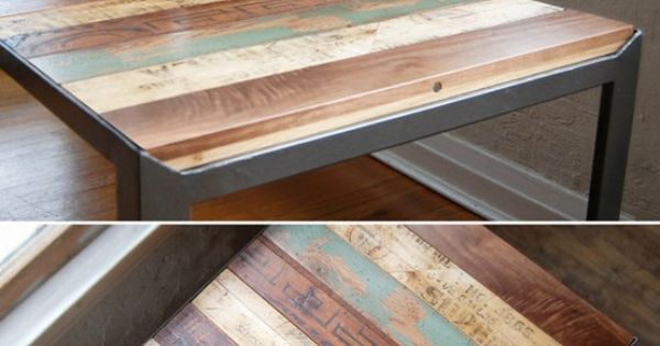 recycled pallets, sanded & finished as a table: this shall be my