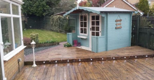 Garden shed cuprinol seagrass my home pinterest for Seagrass landscaping