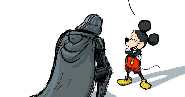 Disney's new Star Wars - mickey mouse darthvader starwars disney