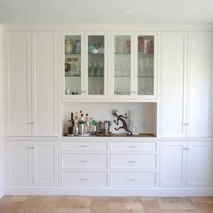 Dining Room Built Ins With Counter Bar, White Dining Room Storage Cabinet