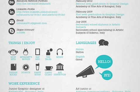 25 great high quality and modern examples of creative cv for 51090 text