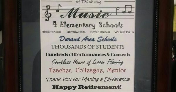 Retirement Gift For Music Teacher Hobbies Amp Crafts