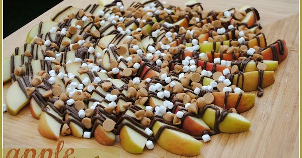 Peanut Butter Nutella Apple Nachos in Chic and Crafty, Dessert Recipes, Fall,