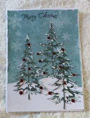 Sizzix Tim Holtz Alterations Collection Christmas Thinlits Die Woodlands In 2021 Homemade Christmas Cards Diy Christmas Cards Christmas Tree Cards