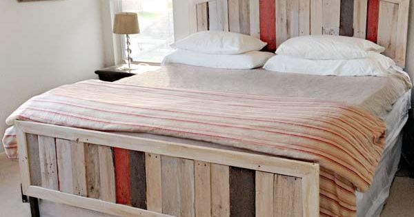 recycled Pallet Bed Frame | Furniture Made From Old Pallets http://www.thisoldhouse.com/toh/photos ...
