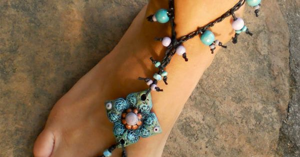 Barefoot sandal - we used to call them hippy sandals and used raffia | See more about Barefoot and Sandals.