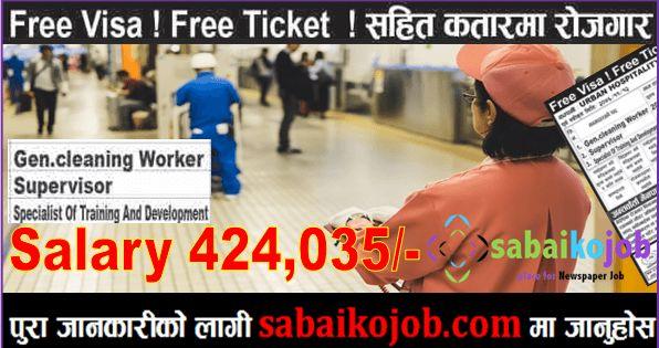Free Visa Free Ticket Job In Qatar In 2020 Training And Development Salary Free Ticket