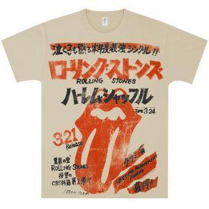 Rolling Stones Harlem Shuffle Japan Cream T Shirt New T Shirt Design Shirt Designs Tshirt Designs