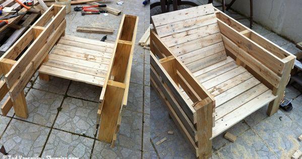 Bricolage creer du mobilier de jardin avec des palettes for Meuble patio palette