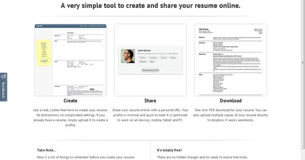 Slashcv A very simple tool to create and share your resume - create a resume