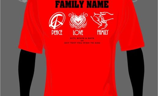 African American Family Reunion Shirts | Peace Love Family ...