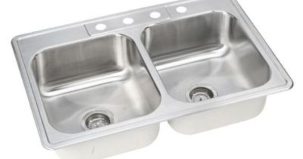 Home depot 109 elkay neptune drop in stainless steel 33 - Kitchen sink clips extra long ...